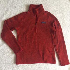 Red Patagonia better sweater quarter zip